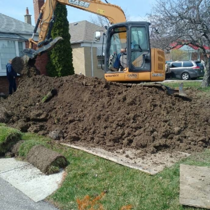 Excavating a Residential Drain
