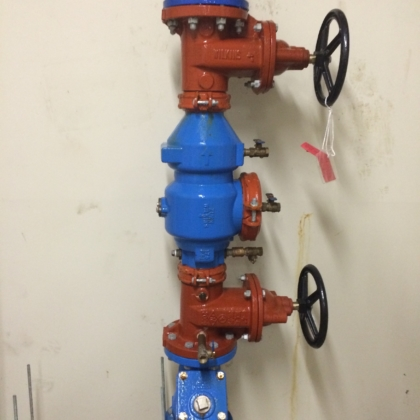 new back flow preventer installed
