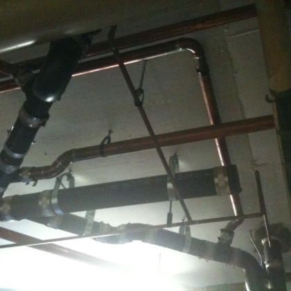 new drainage lines installed for a local restaurant - 2