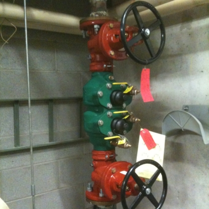 new premise back flow preventer install - 1