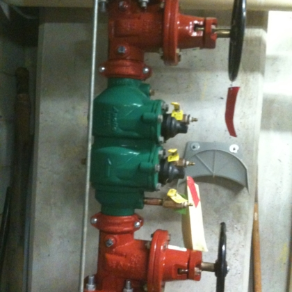 new premise back flow preventer install - 2
