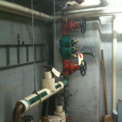 new premise back flow preventer install - 3