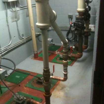 new sump pumps plumbed and installed - 4
