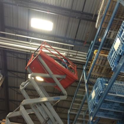 overhead plumbing