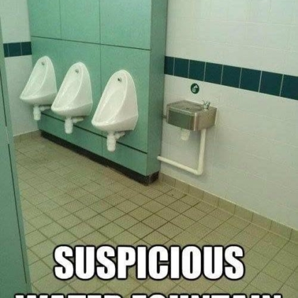 suspicious water fountian